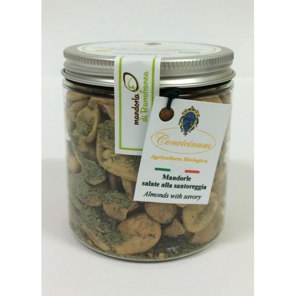 Mandorle alla santoreggia salate da agricoltura biologica