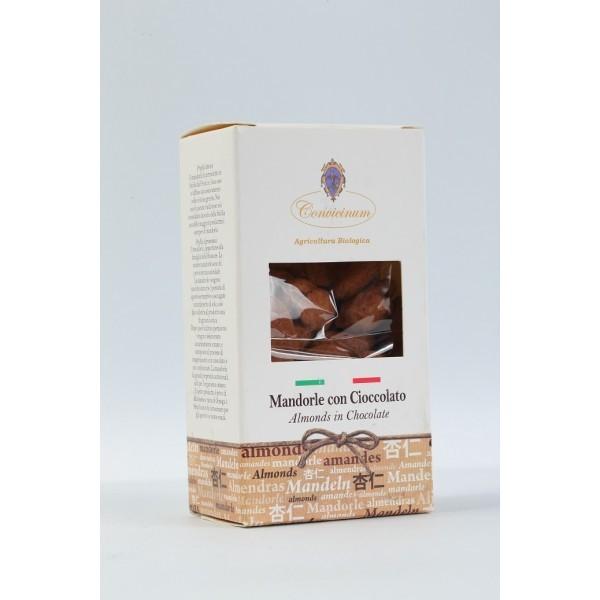 Mandorle al cioccolato tartufate al cacao amaro da agricoltura biologica - vari formati
